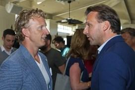 NOORDWIJK, 07-05-2018 , Grand Hotel Huis ter Duin / Breakers Beach House , Photo-exhibition Dirk Kuyt. (L-R) Dirk Kuyt and Richard de Borst (Director Consumer Huawei)