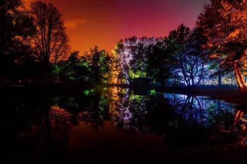 Grote schijn Magische lichtshow