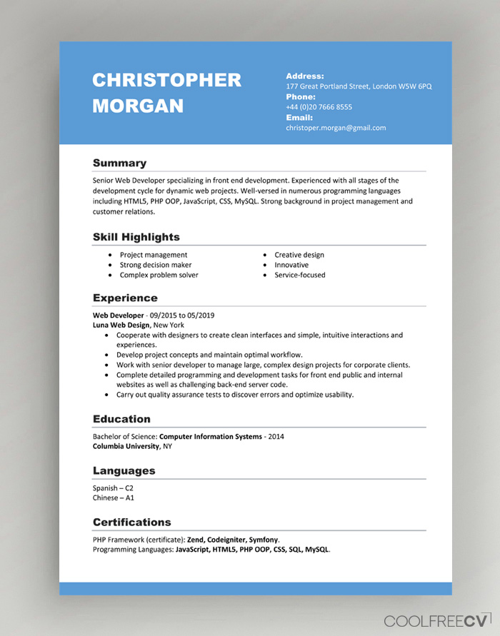 002 cv template basic simple resume templates office word pertaining to simple resume template microsoft word image below, is part of simple resume template microsoft word article which is categorized within word template and published at january 20, 2020. Cv Resume Templates Examples Doc Word Download