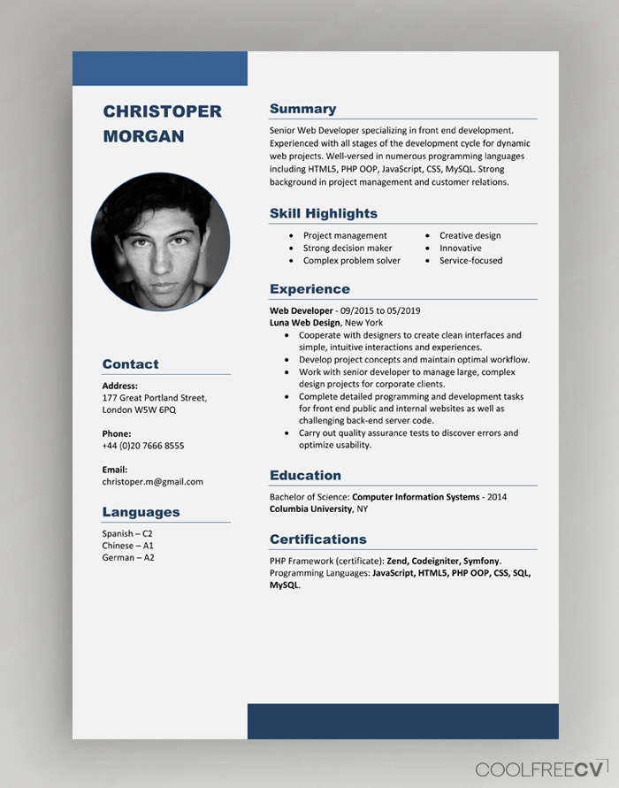 Indeed's free resume builder and templates are here to help you. Cv Resume Templates Examples Doc Word Download