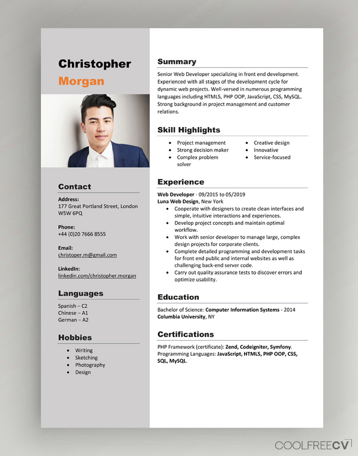 Download this set of templates. Cv Resume Templates Examples Doc Word Download