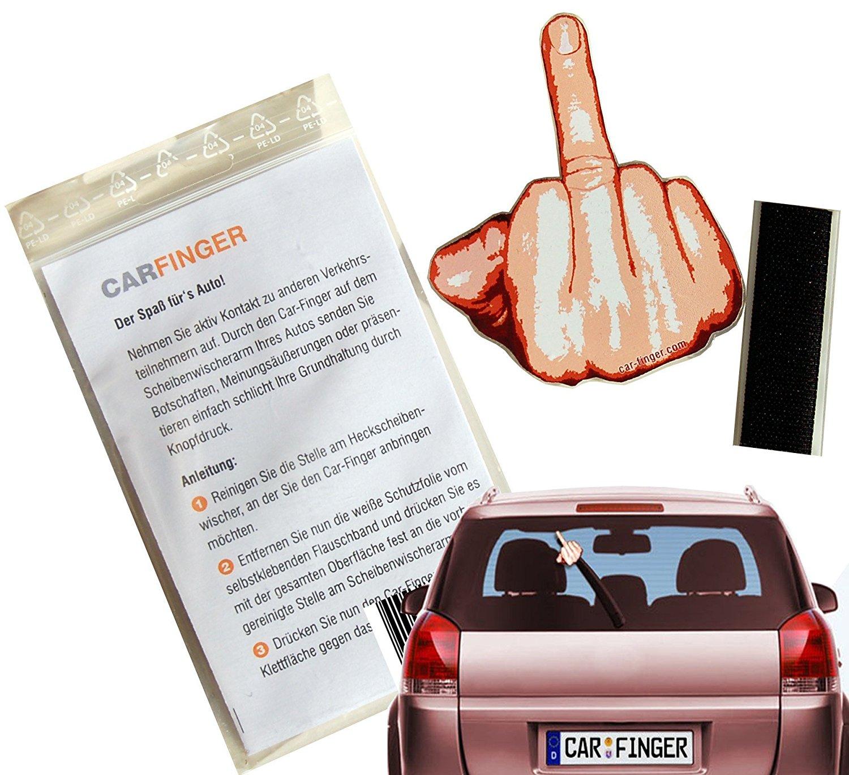 Mittelfinger für die Heckscheibe witziges Auto Gadget 3