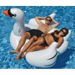 Giant Inflatable Swan Pool Float Toy