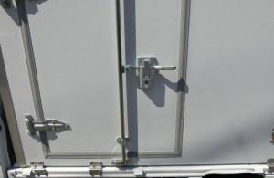 低温冷凍車 ヒンジロックバー