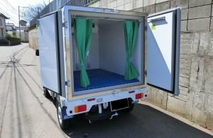 低温冷凍車 リア観音ドア