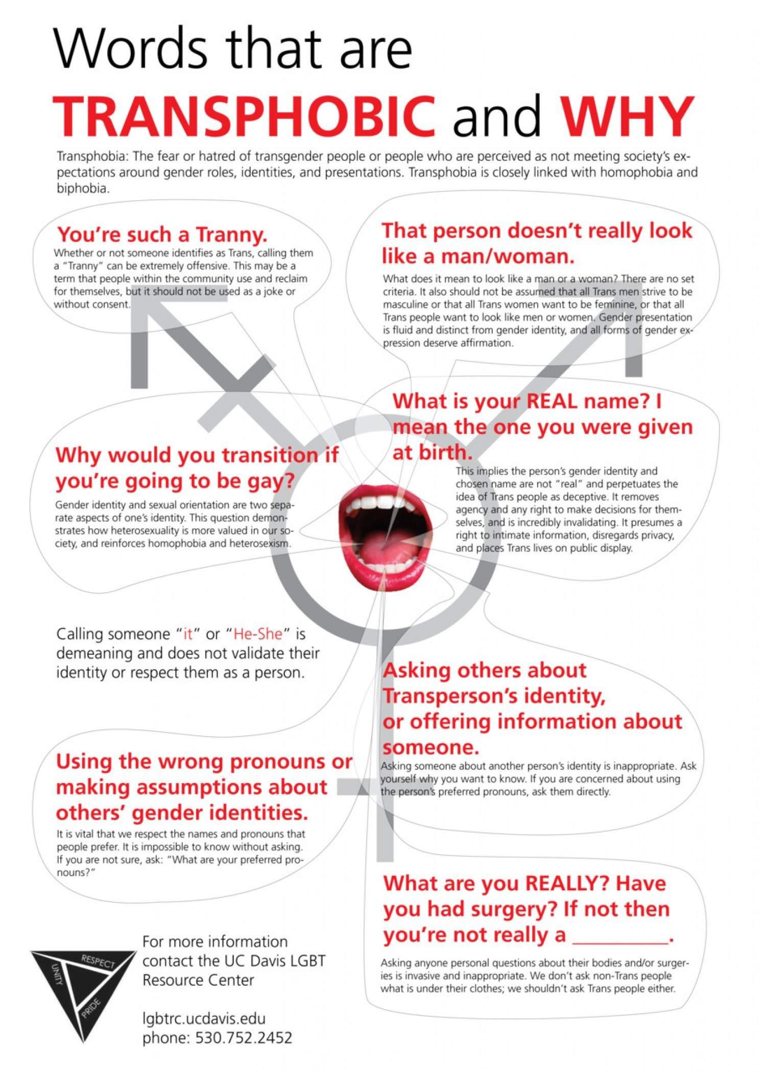 Infographic Woorden die transfobisch zijn