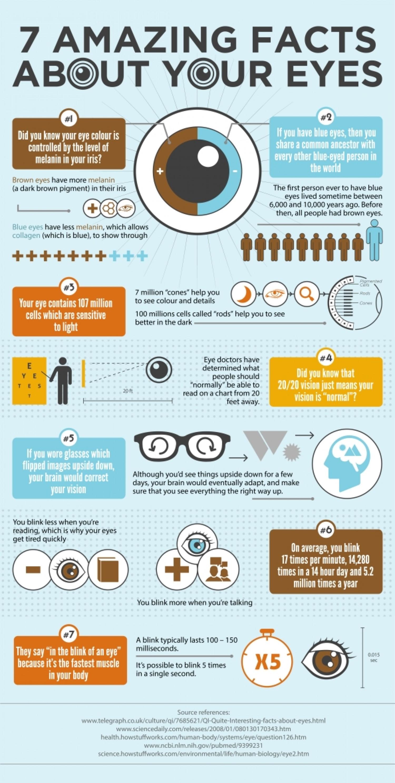 Wonderbaarlijke feiten over je ogen