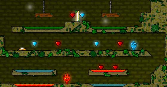 Fireboy And Water Girl In The Forest Temple Play It Now At