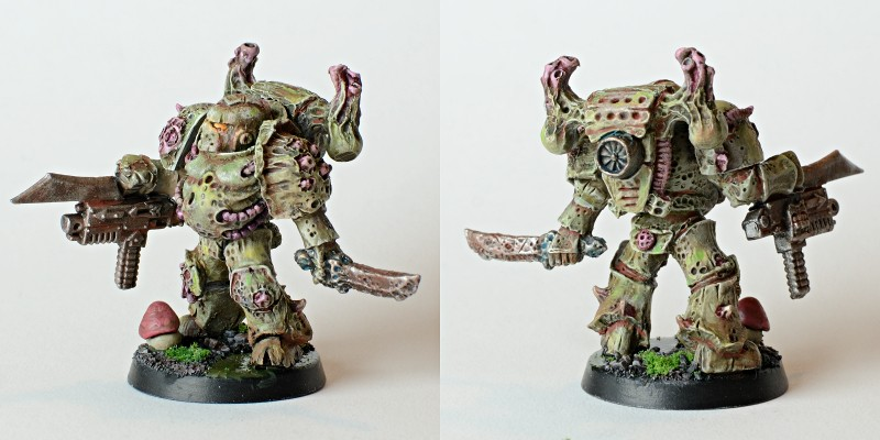 CoolMiniOrNot Chaos Space Marine Plague Marine By Thezoat