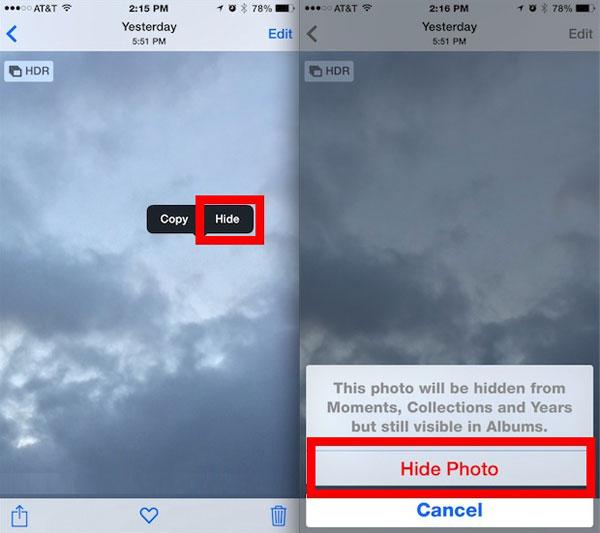 Easy Way to Hide iPhone Photos