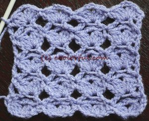 How to crochet a combination of single crochet, double crochet and cluster stitches