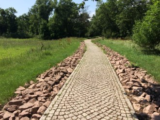 Fahrradweg kurz vor Aken