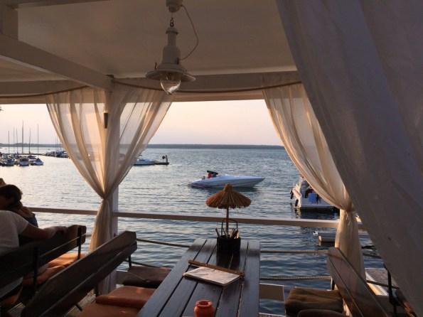 Restaurant Chill an Grill Sonnenuntergang