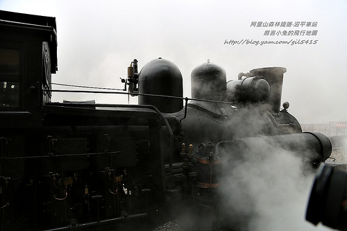 【阿里山沼平車站】浴火中重現鐵道風華 蒸汽火車鳴笛宣告正式啟用 @麻吉小兔吃貨旅行團