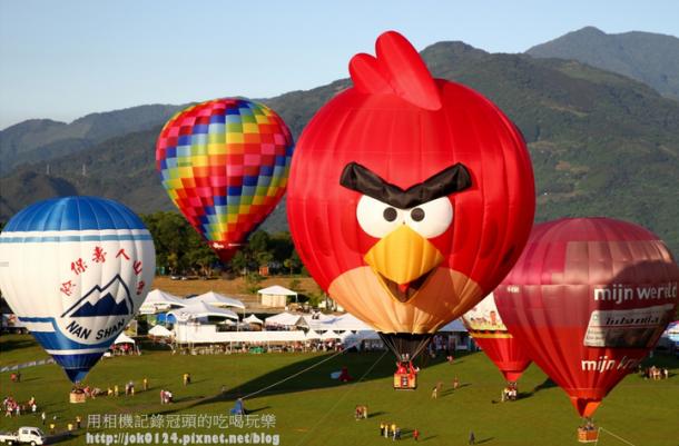 憤怒鳥飛到台灣 2013 台灣國際熱氣球嘉年華 就在台東鹿野高台 @ 用相機紀錄冠頭的吃喝玩樂 -- 痞客邦 PIXNET --
