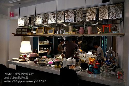 2014【屋頂上的貓 食堂。私廚】逸仙路新家新風貌。訂位要等N個月後 @麻吉小兔吃貨旅行團