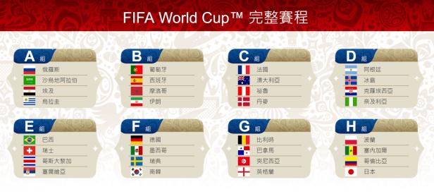 【2018世界盃足球賽俄羅斯】32強、賽程表、轉播、線上看、世足賽 2018 FIFA WORLD CUP RUSSIA @麻吉小兔吃貨旅行團