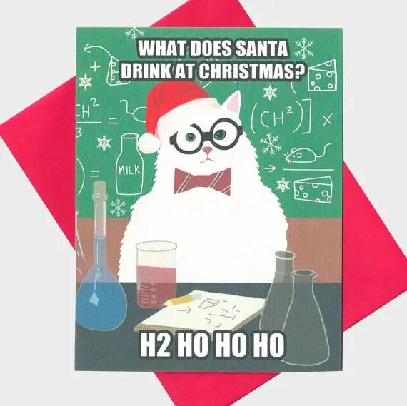 Christmas Chemistry Puns
