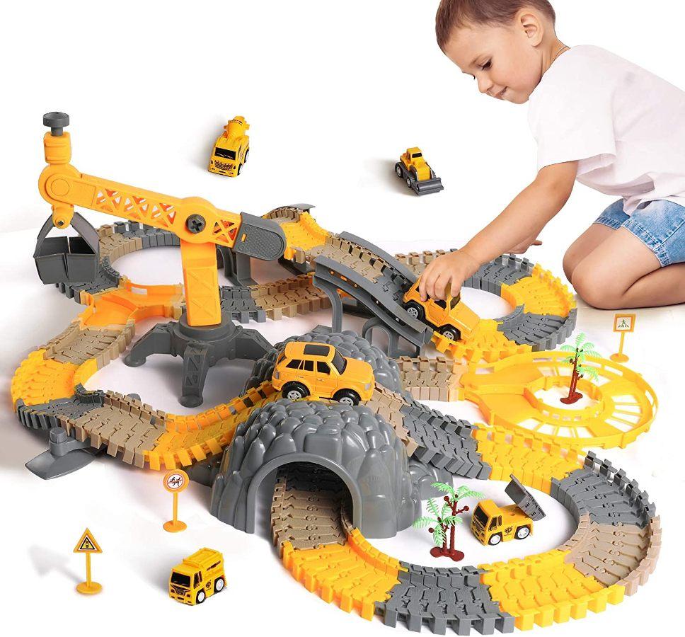 Ensemble de circuits de course, jouets enfants 2-6 ans