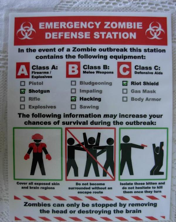 poster on zombie defense