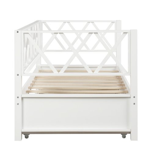 Wood Daybed with Trundle,Twin Size 7