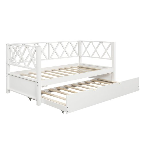 Wood Daybed with Trundle,Twin Size 6