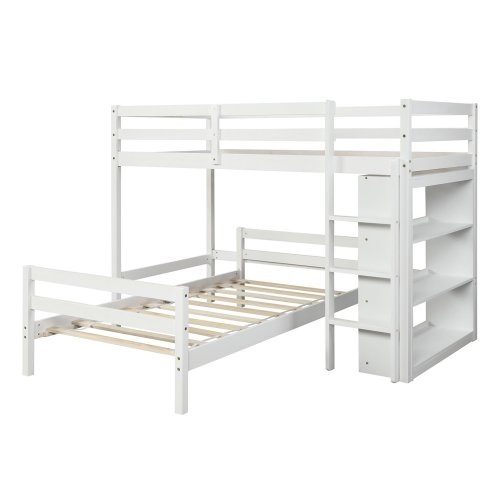 Twin over Twin Bed with Shelves 20