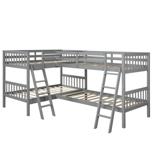 L-Shaped Bunk Bed Twin Size 4