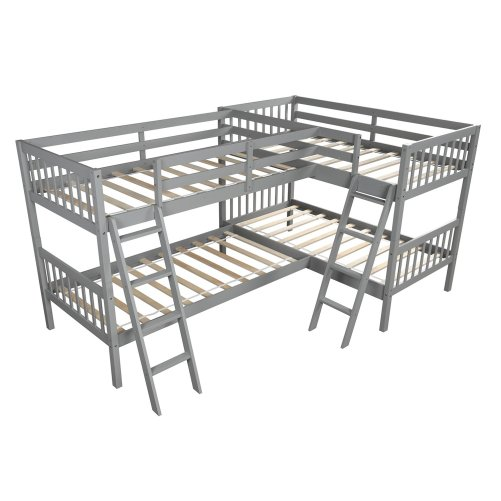 L-Shaped Bunk Bed Twin Size 3