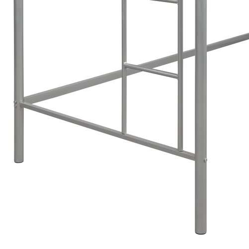 Twin Loft Bed With Sturdy Steel Frame, Guard Rail, Two-side Ladders 9