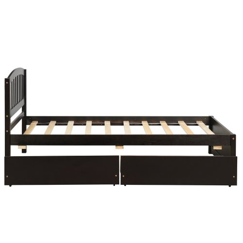 Twin Size Platform Bed With Two Drawers