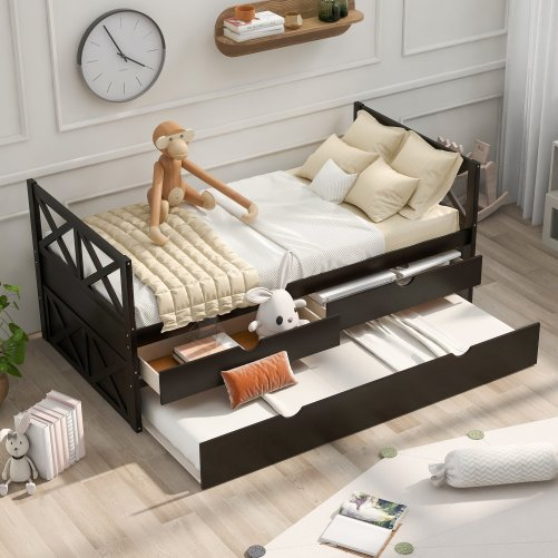 Multi-Functional Daybed With Drawers And Trundle