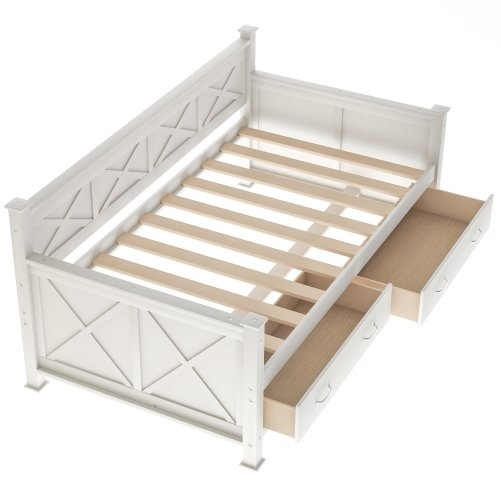Twin Size Daybed With 2 Large Drawers