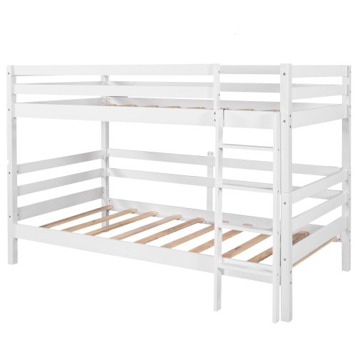 Twin-Over-Twin Bunk Bed With Ladder, Can Be Divided Into Two Beds