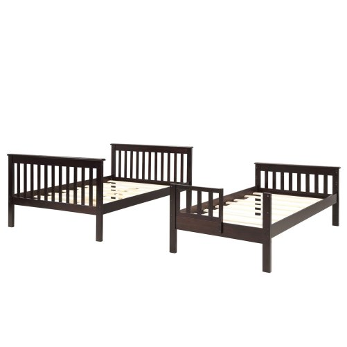 Stairway Twin-Over-Full Bunk Bed with Storage and Guard Rail 6