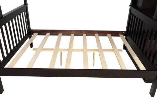 Stairway Twin-Over-Full Bunk Bed with Storage and Guard Rail 26