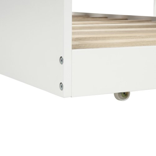 Twin-Over-Twin Trundle Bunk Bed with 4 Storage Drwers 5