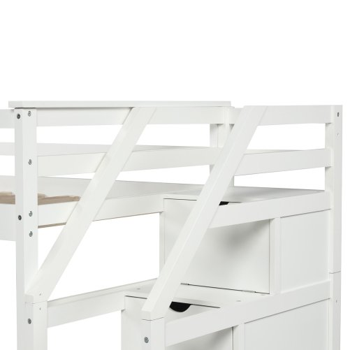 Twin-Over-Twin Trundle Bunk Bed with 4 Storage Drwers 18