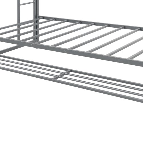 Twin over twin bunk bed with storage 8
