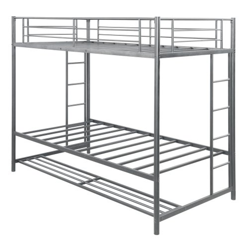 Twin over twin bunk bed with storage 13