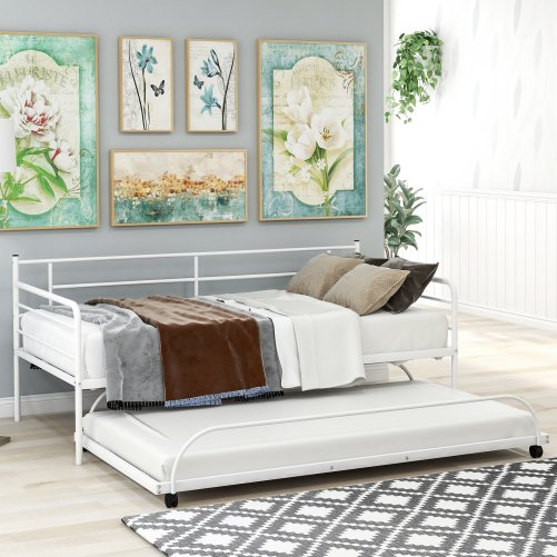 Metal Daybed with Trundle 12