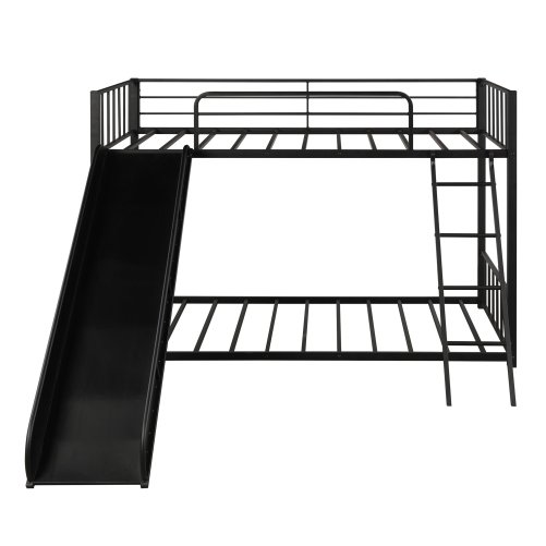 Metal Bunk Bed with Slide, Twin over Twin 4