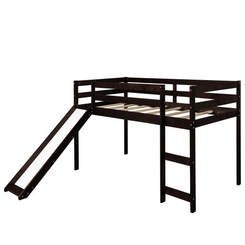 Kids Loft Bed with Slide, Multifunctional Design 6