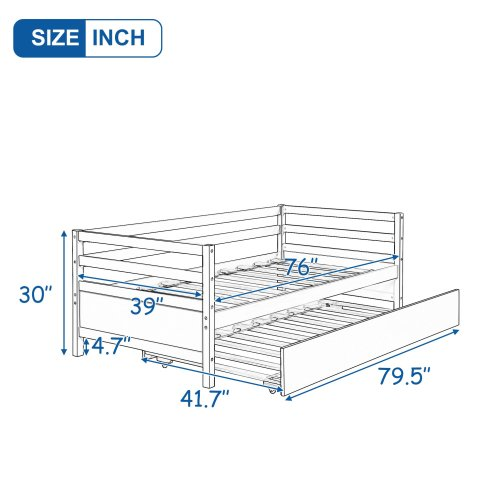 Daybed with Trundle Frame Set 6
