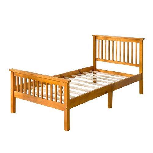 Wood Platform Bed with Headboard and Footboard 4