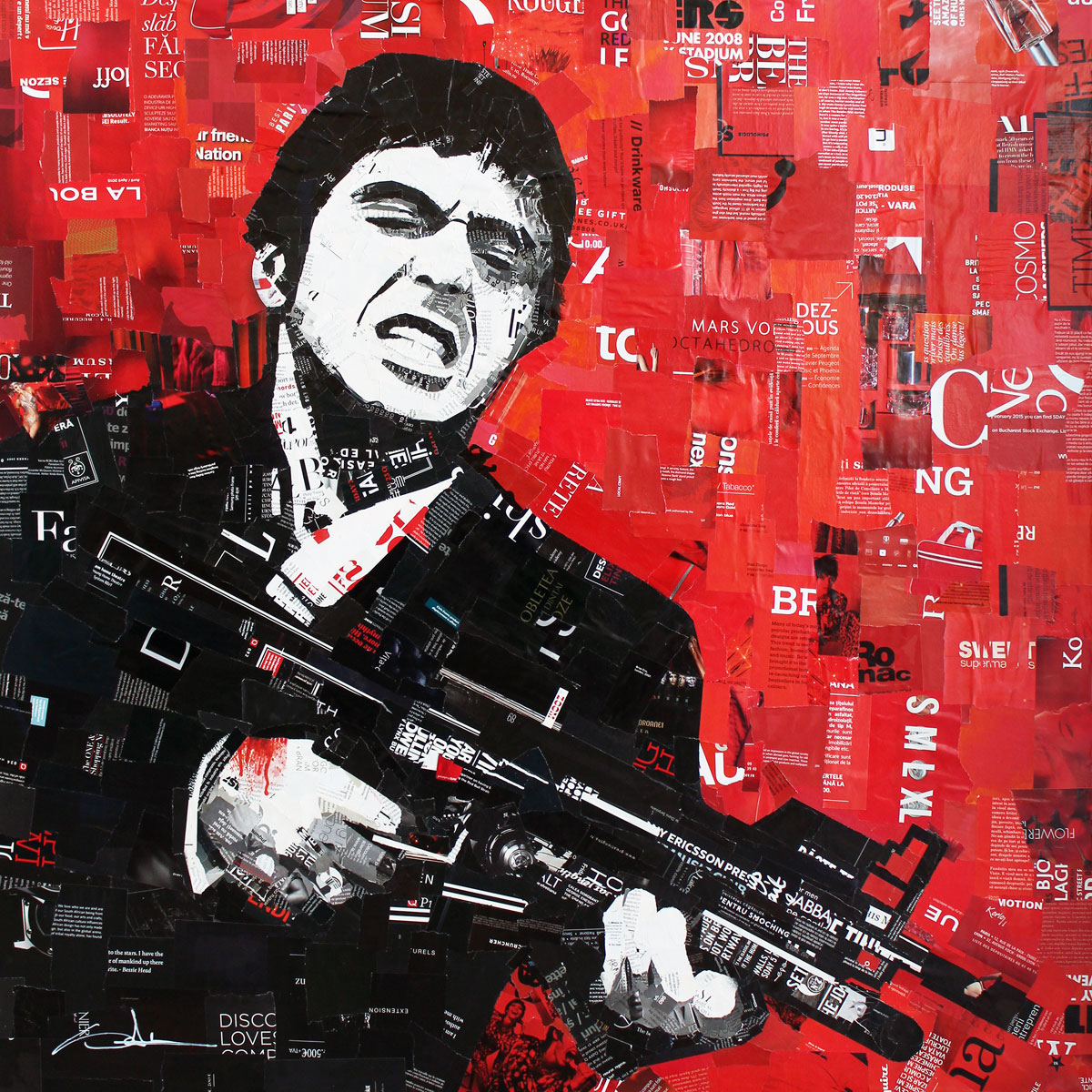Al Pacino - say hello to my little friend 100x100cm