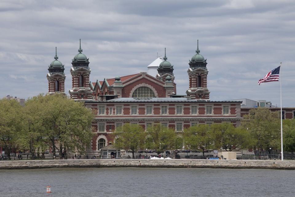 Ellis Island Immigration Museum New York Harbor. Foto: Marley White