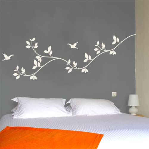 leaves wall decal - nature vinyl wall graphics