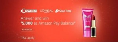 Amazon L'Oreal Quiz