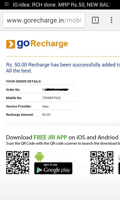{Loot} Idea Users: Get Rs.50 Recharge by Paying just Rs.5 + Proof-May'16